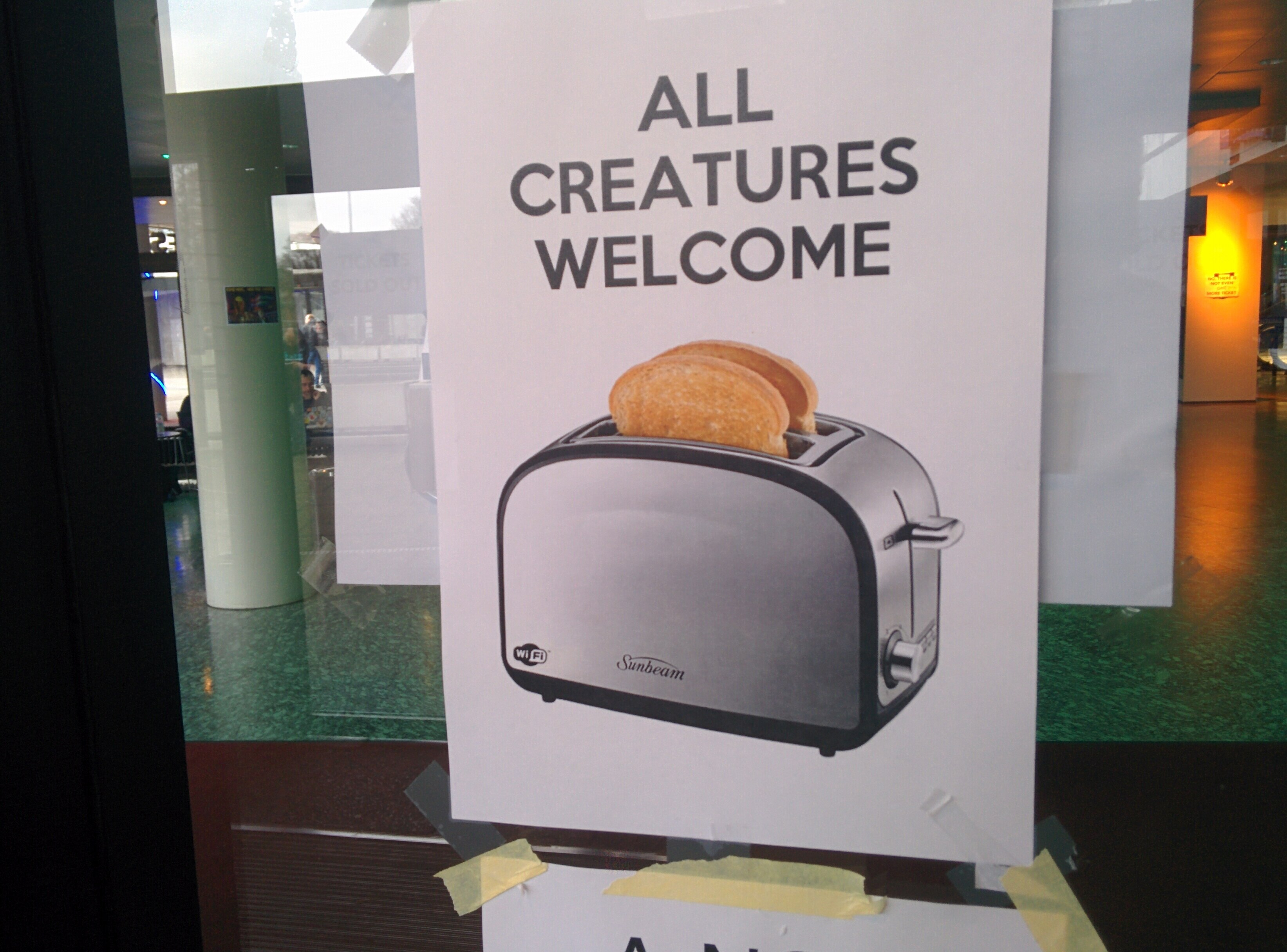 ALl toasters welcome